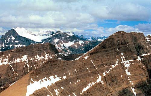 Crowfeet Mountain, and view NorthWest