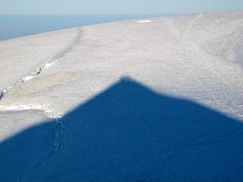 View of summit plateau from...