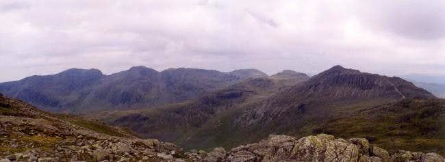 A view west to the Scafell...