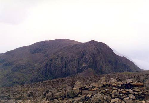 A view southwest to Scafell...