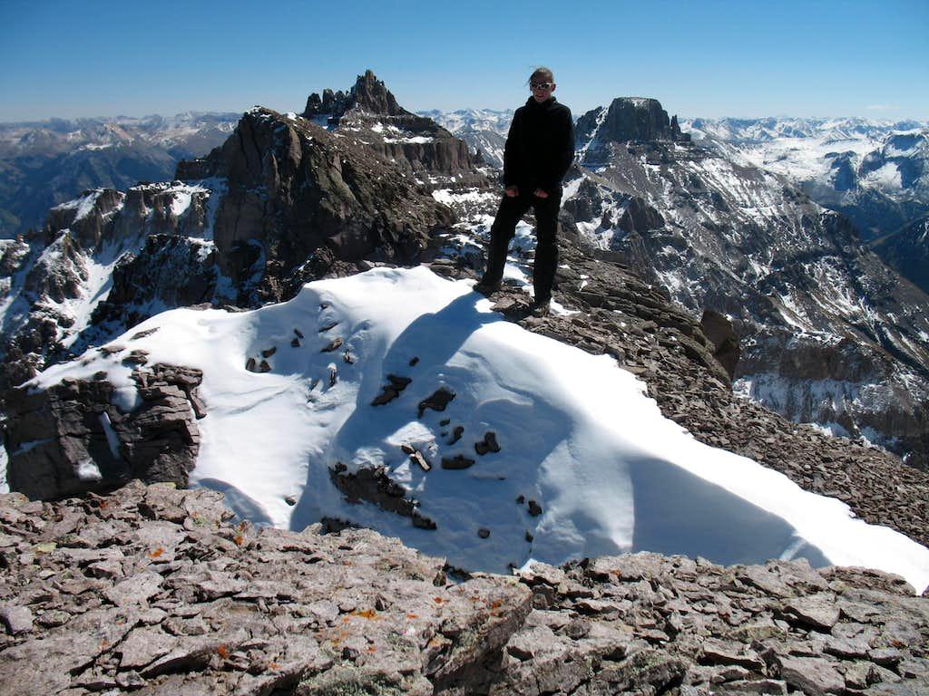 Self portrait on Cirque Mountain's summit