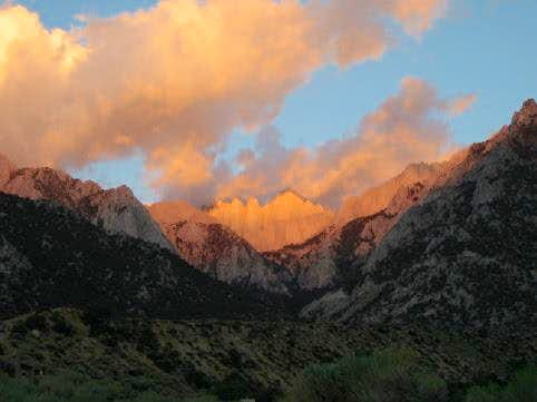 Sunrise on Mount Whitney....