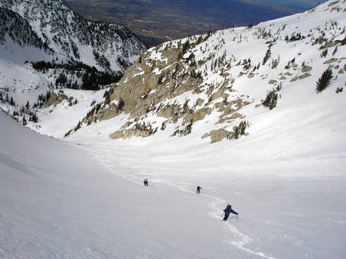 Trudging up Thunder Bowl