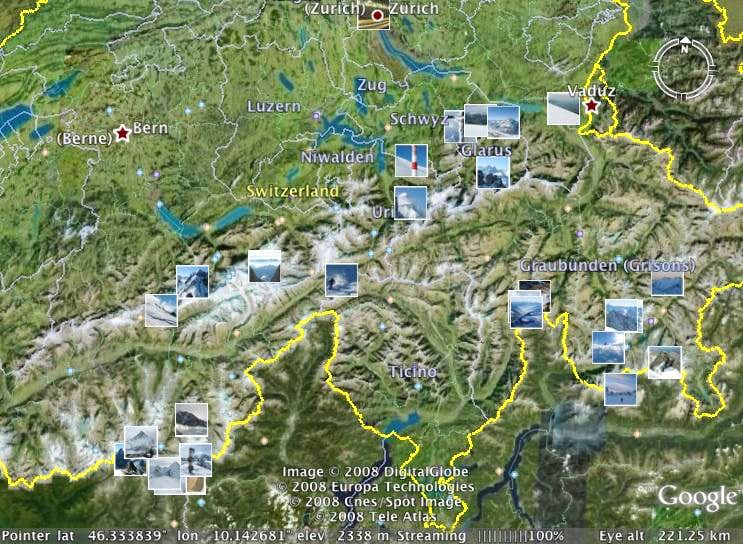 Swiss alps map photos diagrams topos summitpost swiss alps map sciox Gallery
