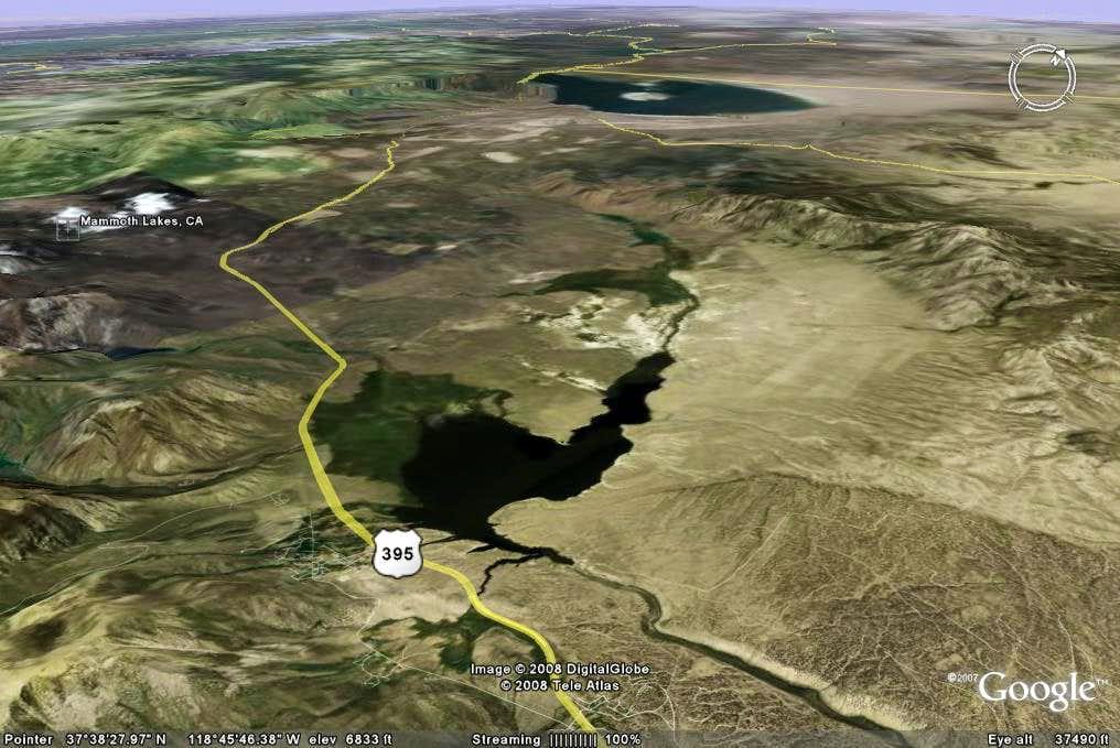 Long Valley Caldera - Google Earth Rendition