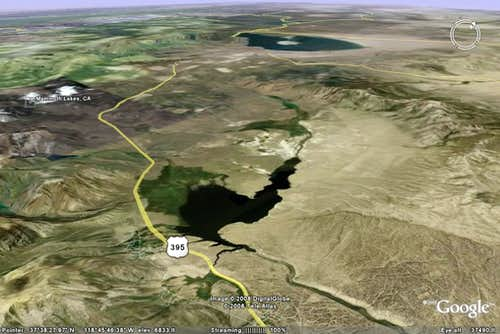 Long Valley Caldera - Google Earth Rendition
