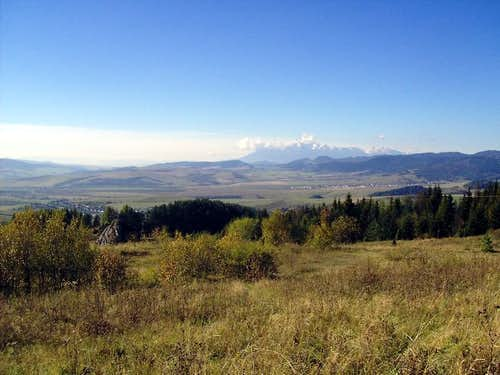 View from Vabec Pass to Magura Spiska and Tatras