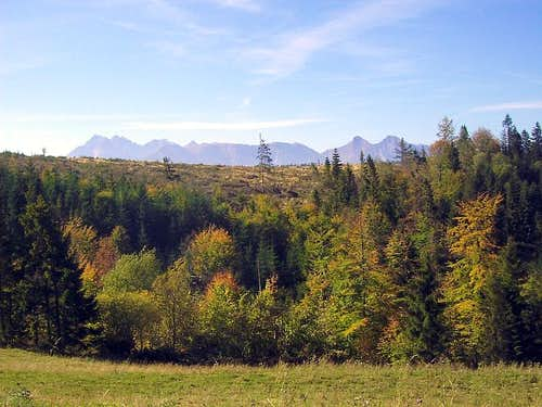 Magura Spiska is good place to see panorama of Tatra Mountains