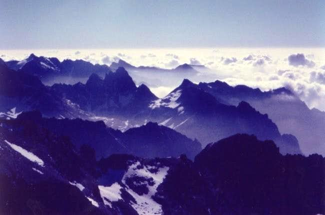 From the summit of Ciarforon...
