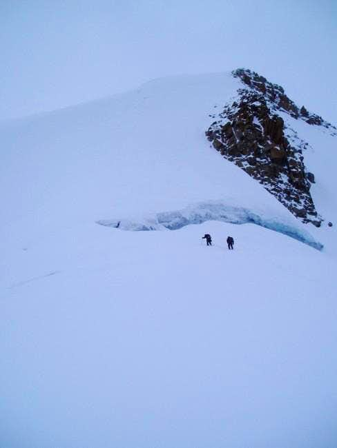 The last steep section before...