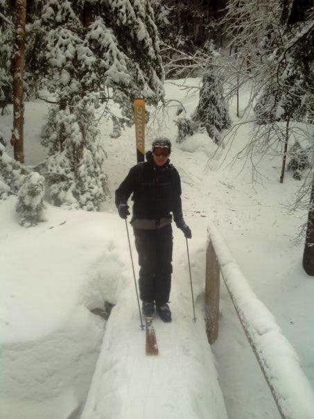 Single ski descent of Mt. Marcy
