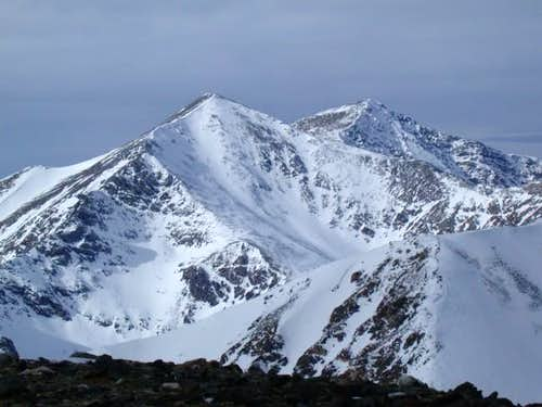 Grays (l) and Torreys (r)....