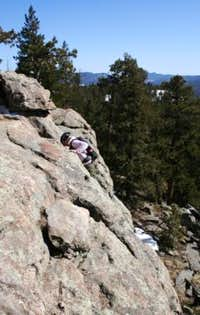Scrambling on Evergreen Mountain