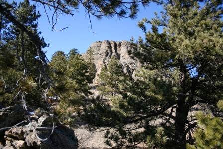 Rock Outcropping on Evergreen Mountain