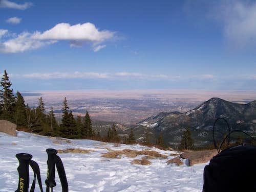 Colorado Springs, from Pikes Peak 12,500'
