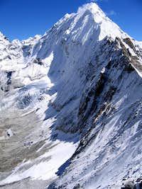 Baruntse North from Amphu Labsa pass