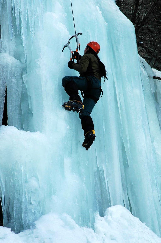 Rauristal - my friend Kamila at climbing on