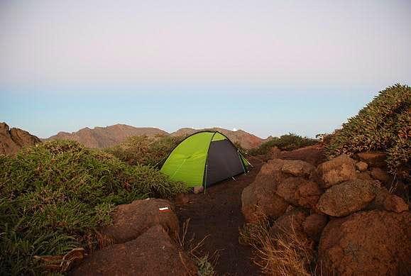 Camping at the Pico de la Cruz
