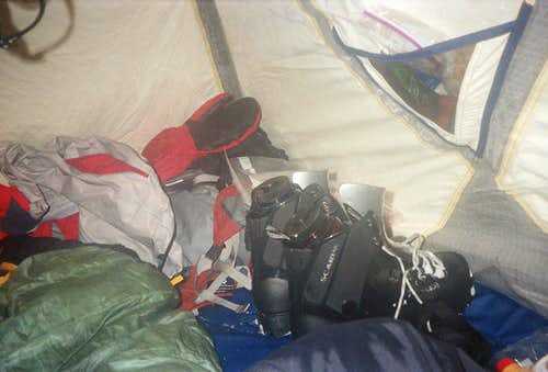 A typical tent shot
