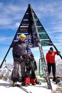 Jon Cruces (6 years old) standing in the summit of Toubkal
