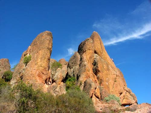 Climbers on Tiburcio's X -...