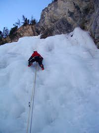 Me ice climbing in Ceillac