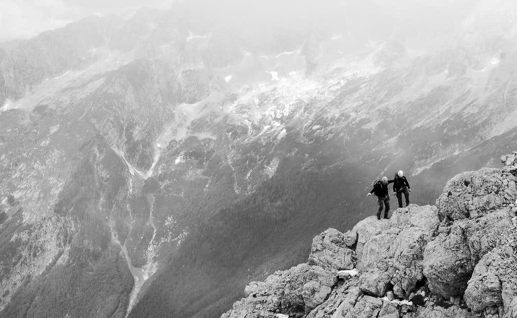 Summit ridge of Prisojnik