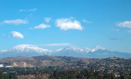 Mt. Baldy (left) and...