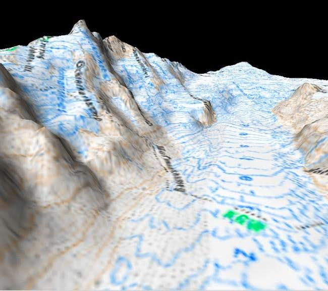 3D view of Grossglockner,...