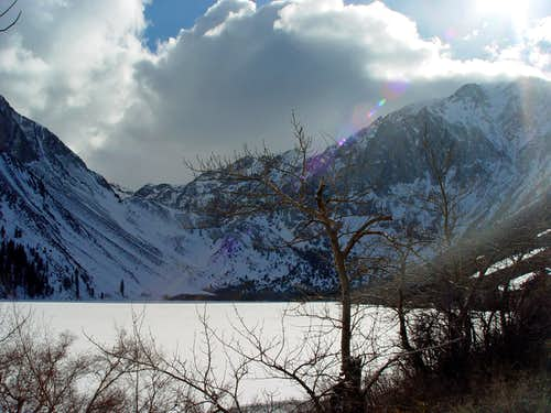 Storm approaching over Convict Canyon