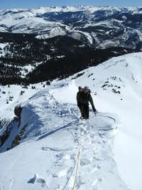 High on the NE Ridge in Winter