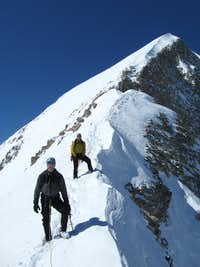Descending the NE Ridge in Winter