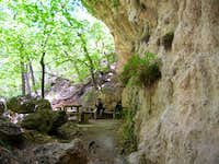 Picnic area at the Grotto