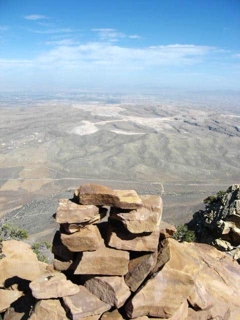 Summit of Mount Wilson, the highest sandstone peak in Red Rock, Nevada