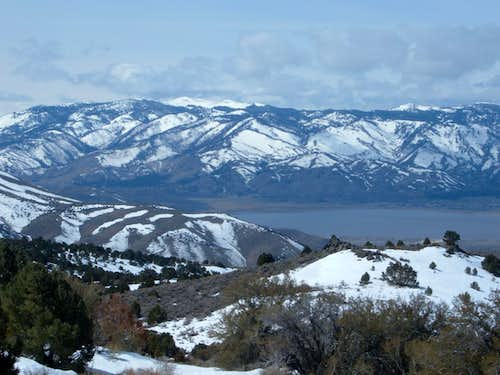 View of Snow Valley Peak and Washoe Lake