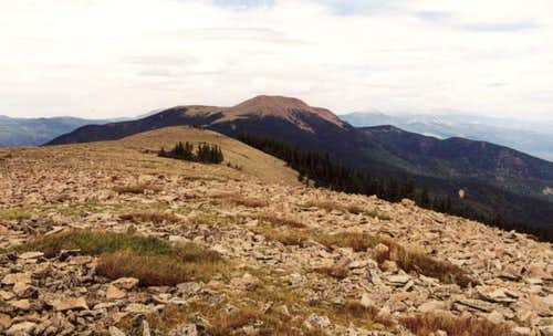 A view facing north of Baldy...