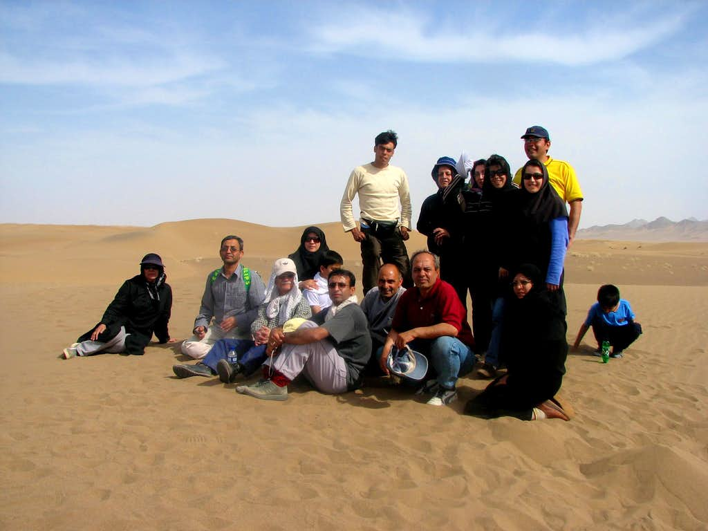 our group in desert