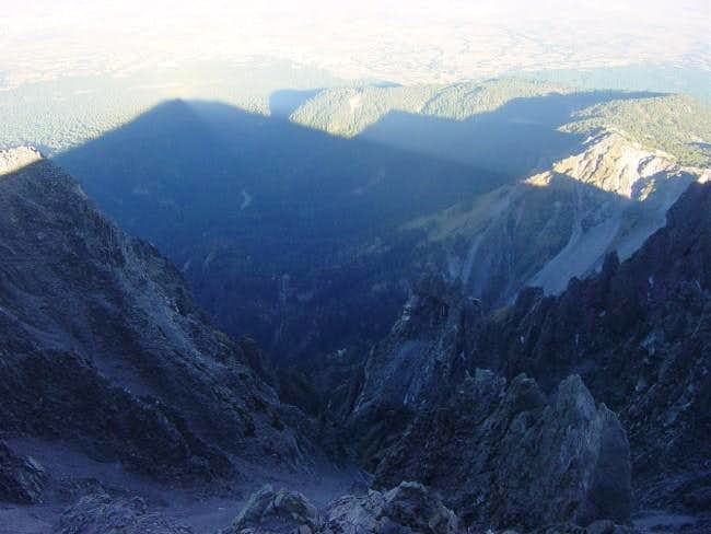 Shadow of LaMalinche from the...