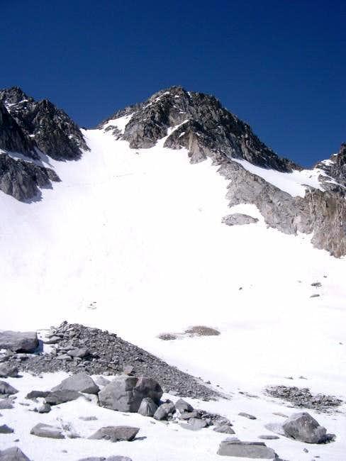 Snow Climb route - North face...