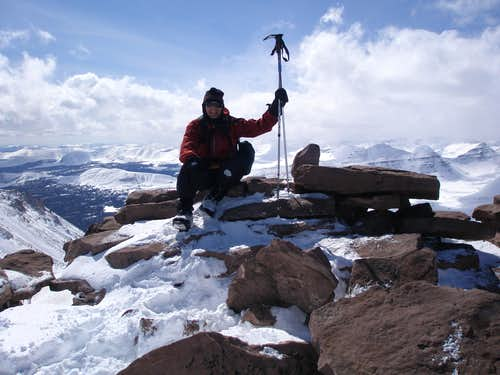 Mike Berry at the summit