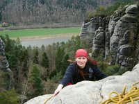 29.3.2008 - Jubilee climb 100 years from the first climb on the Mittlerer Hirschgrund Turm /Rathen - Sächsische Schweiz - Germany/
