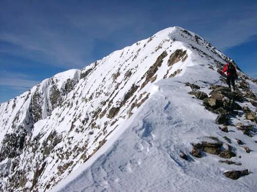 Mount Guyot\'s east ridge in...