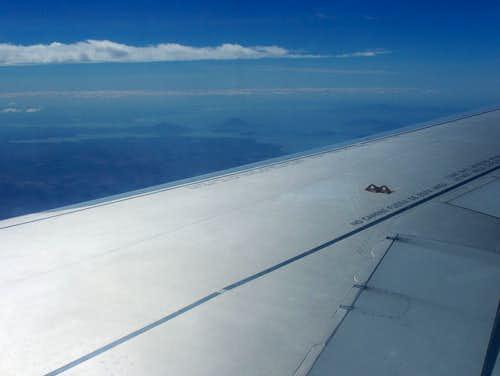Isla del Tigre from the air