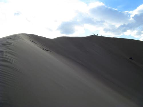 Nearing summit of High Dune