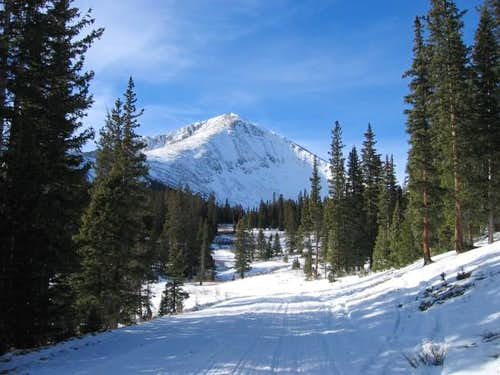 Mount Guyot seen from the...