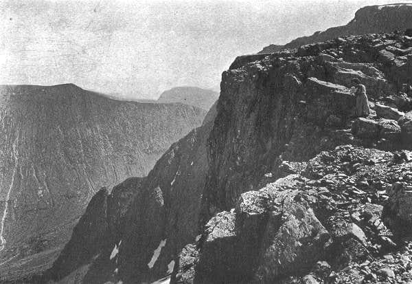 The Tower Ridge of Ben Nevis from Carn Dearg