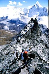 Pokalde Ri - Ridge seen from...