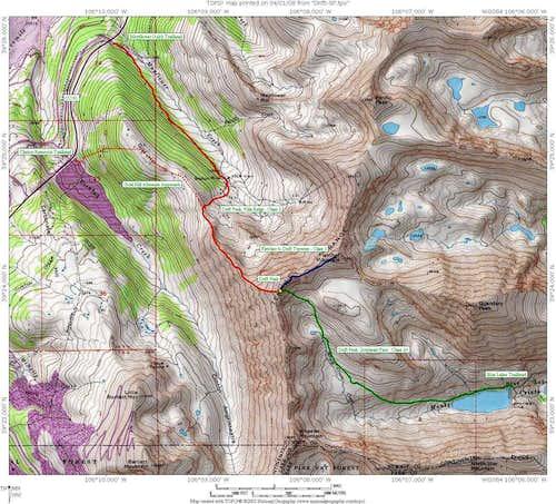 Drift Peak area map
