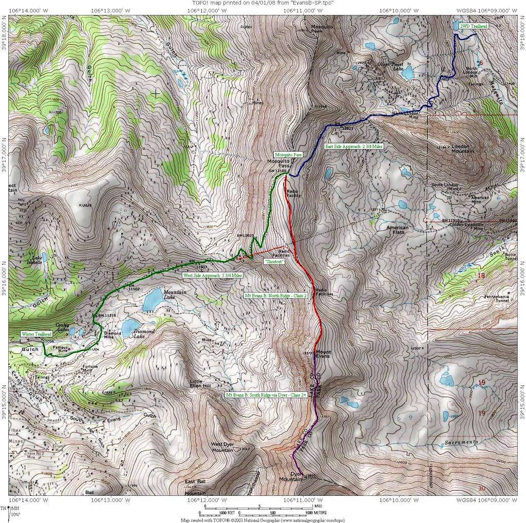 Area Map - Mt Evans B