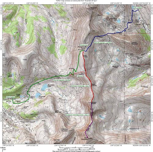 Area Map - Mt Evans B